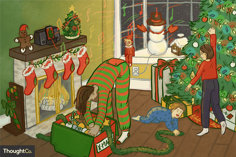 Top Christmas songs illustration