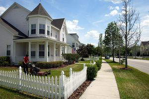 Looking like a quiet suburb, Celebration, Florida is mixed use, walk-friendly new urbanism