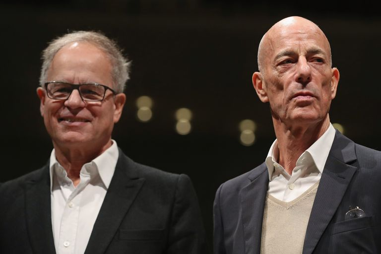 Architects Pierre De Meuron (L) and Jacques Herzog (R) in 2016