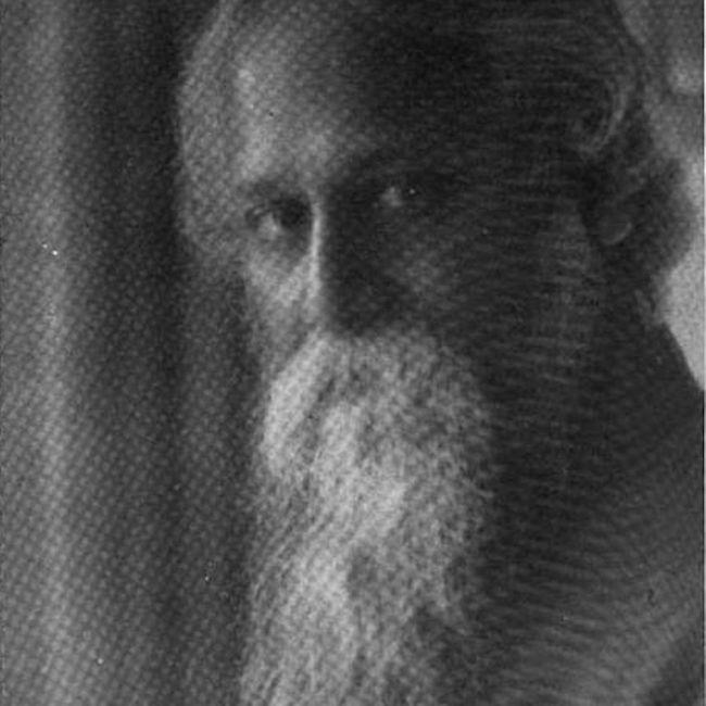 Rabindrinath Tagore portrait photo, circa 1922