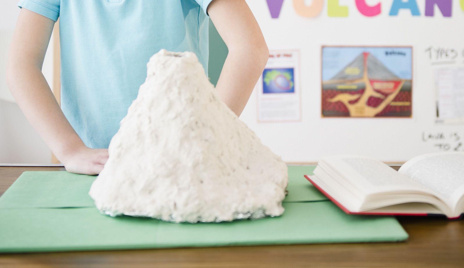A model volcano