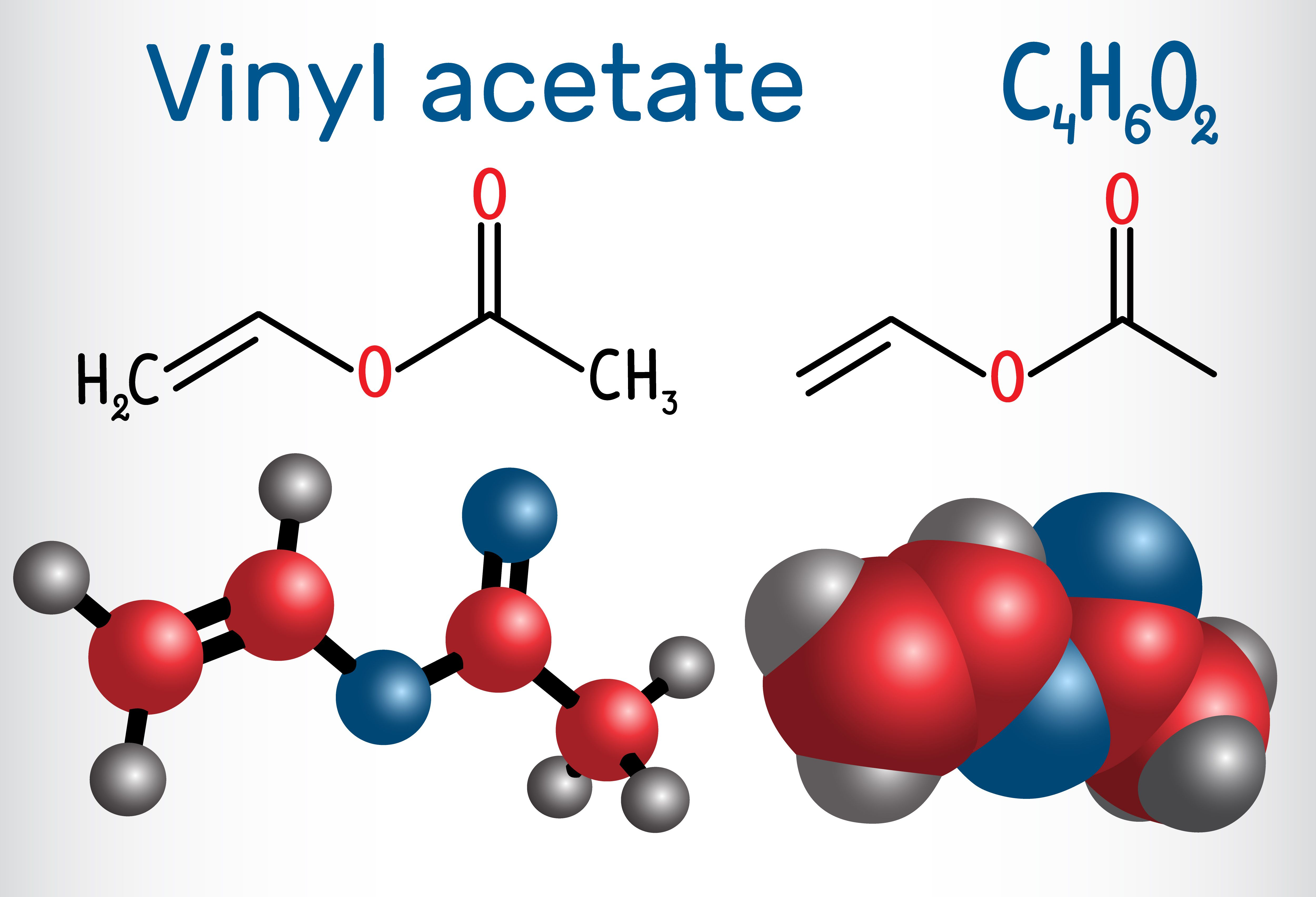 Vinyl acetate contains the carboxyl group.