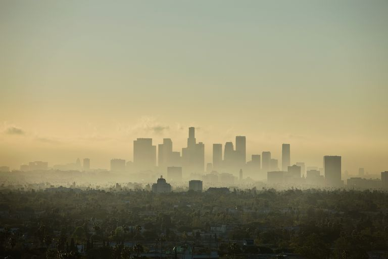 NOx pollution contributes to unhealthy smog over cities.