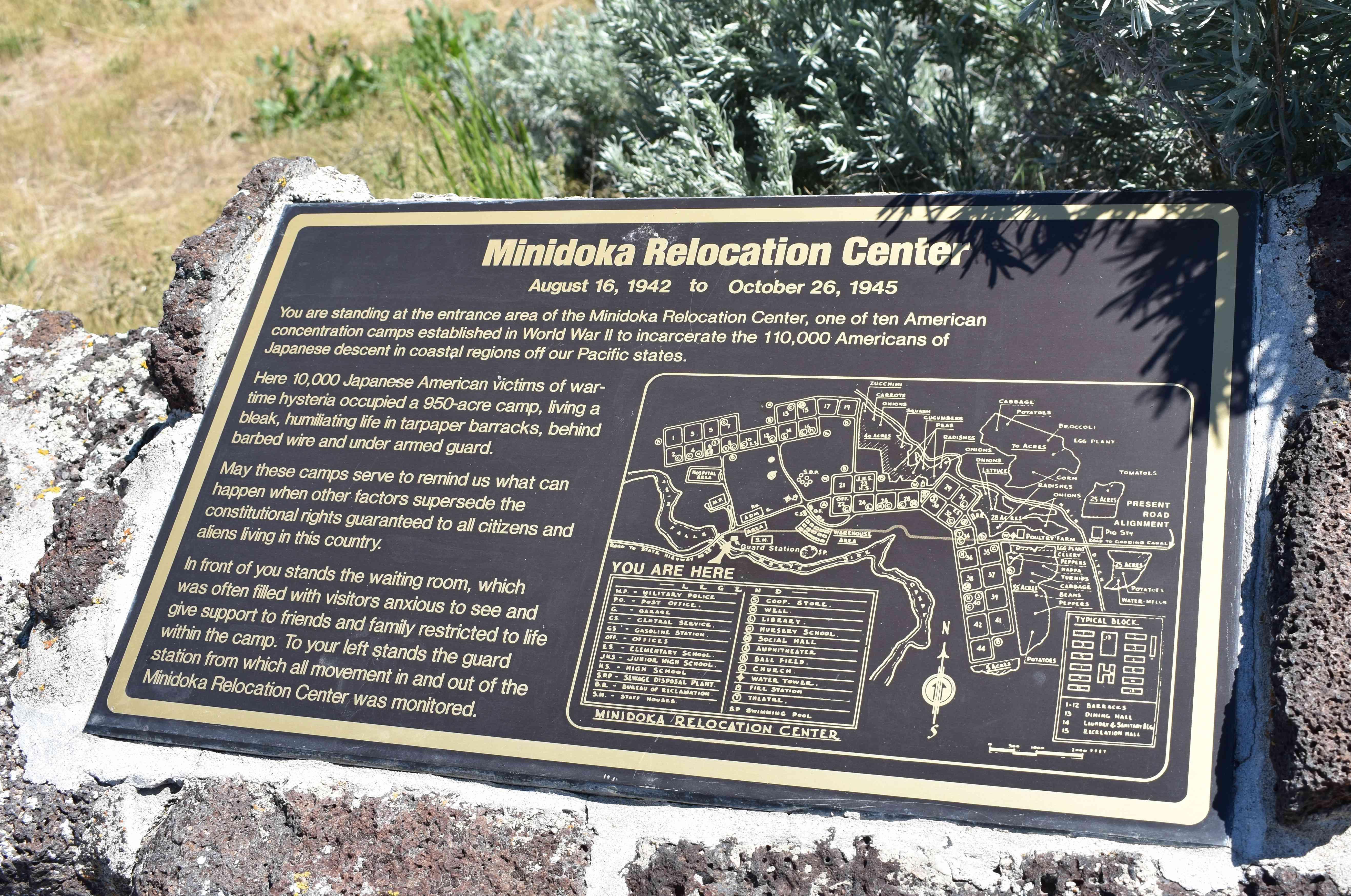 Minidoka National Historic Site near Jerome, Idaho
