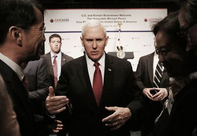 US Vice President Mike Pence Meeting With S Korean Officials