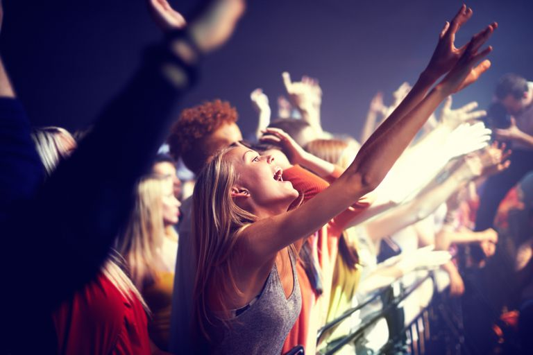 Music fans enjoying the music