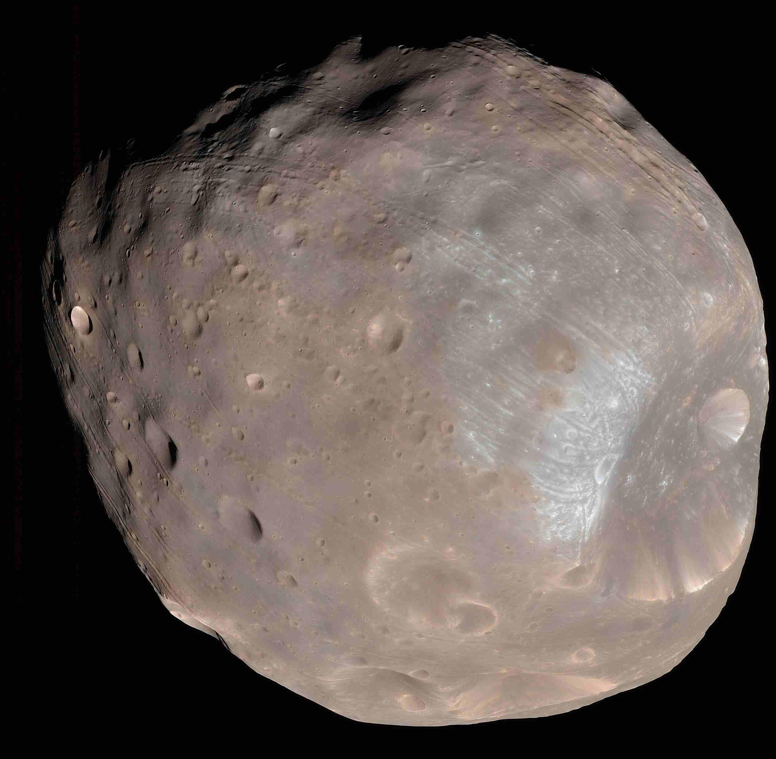 Phobos from 6,800 Kilometers