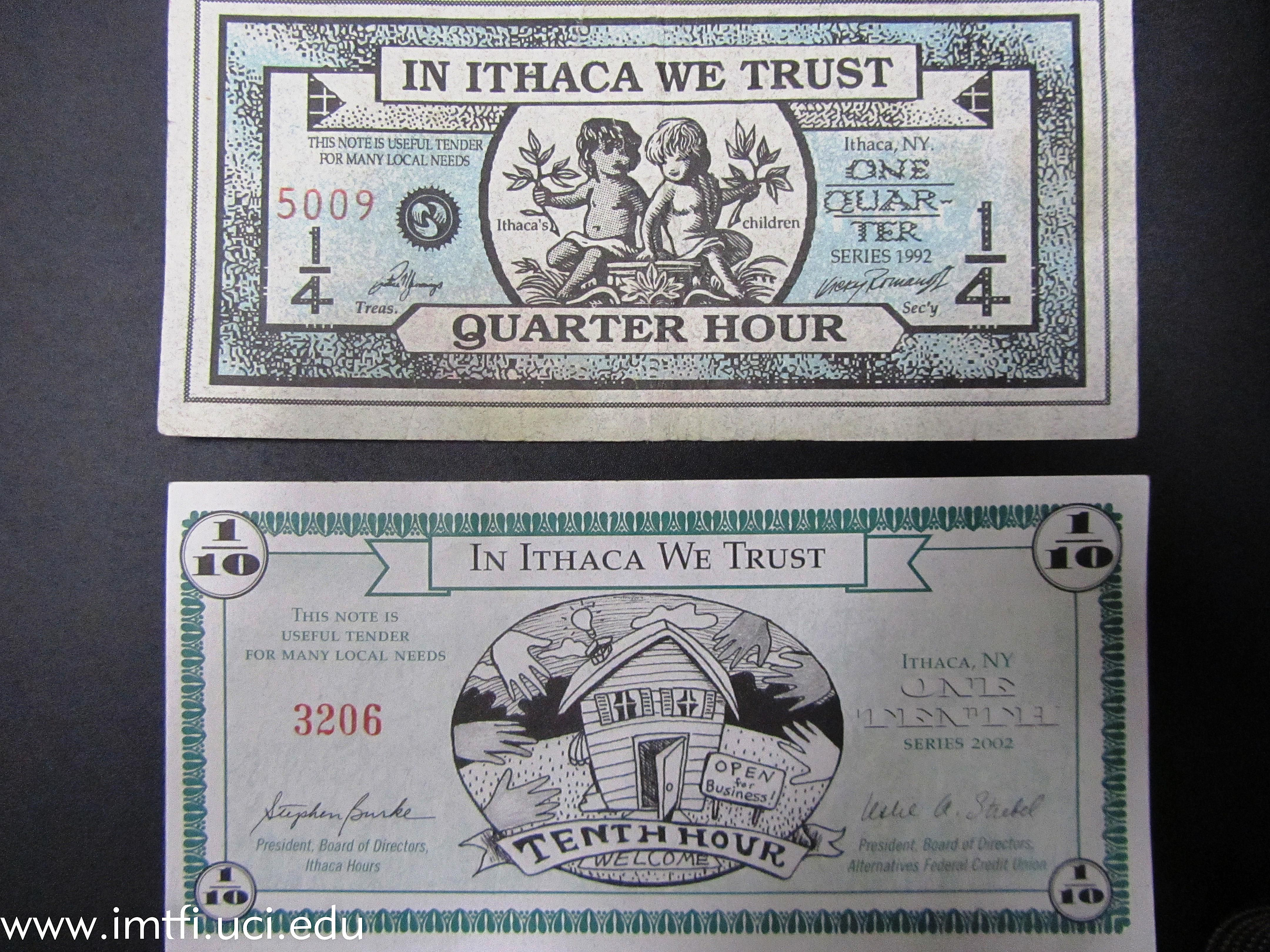 Ithaca Hours, the Local Currency