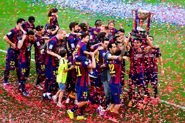 Image result for FC Barcelona League winning