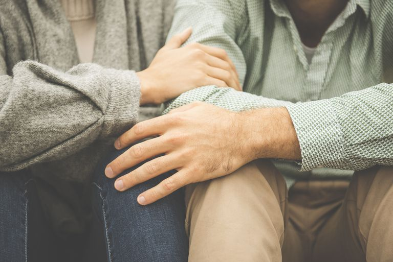 couple sitting together in compassion