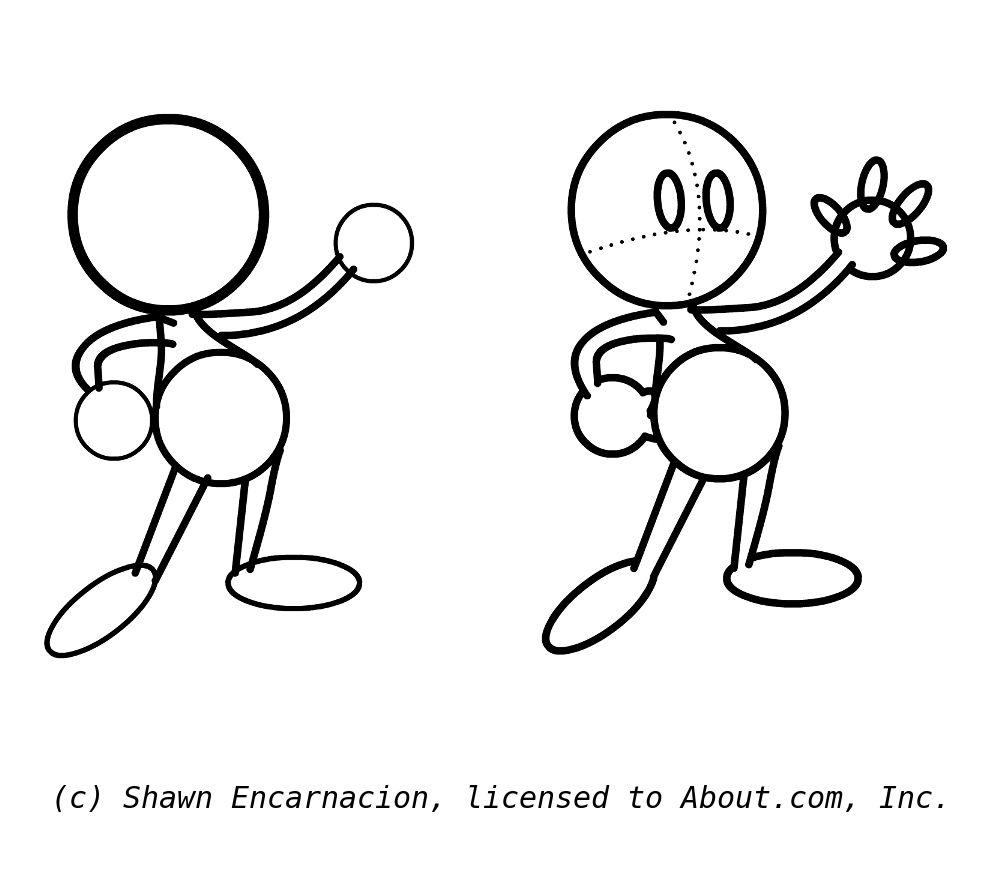 Draw cartoon hands