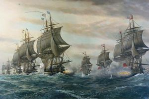 the British and French fleets