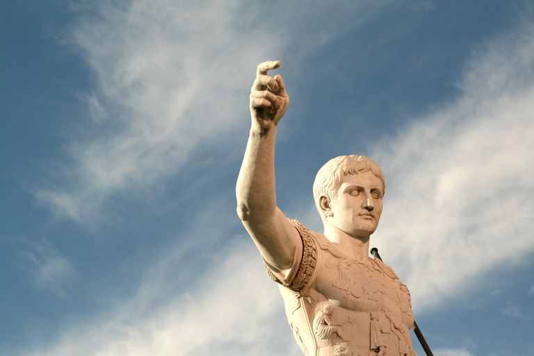 caesar statue against sky