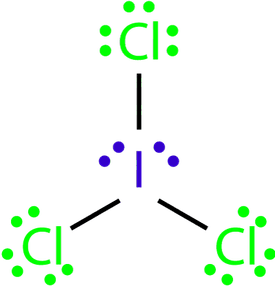 This is a Lewis structure of ICl3.
