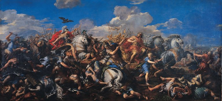 The Battle of Alexander Versus Darius, 1644-1655. Artist: Cortona, Pietro da (1596-1669)
