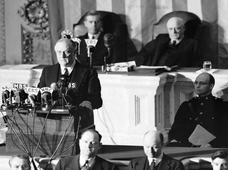 FDR at Infamy speech