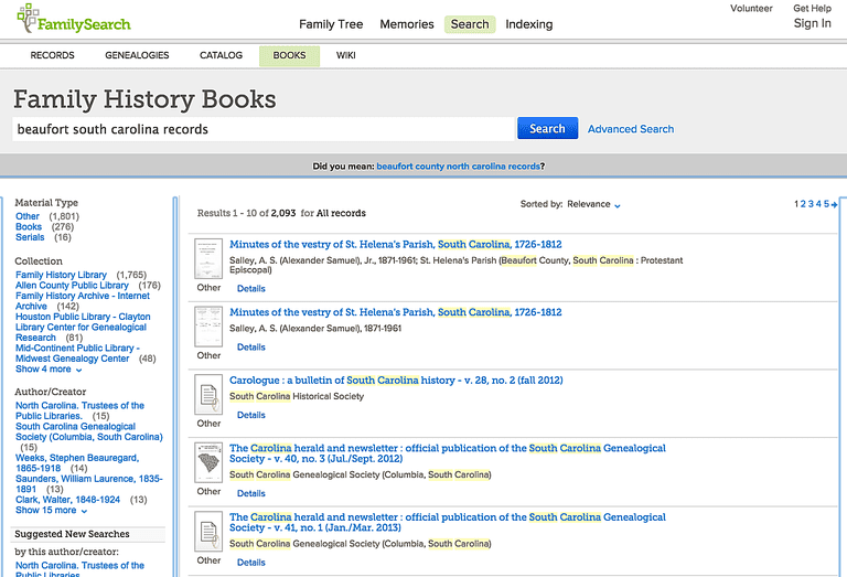 10 free family history books genealogy online