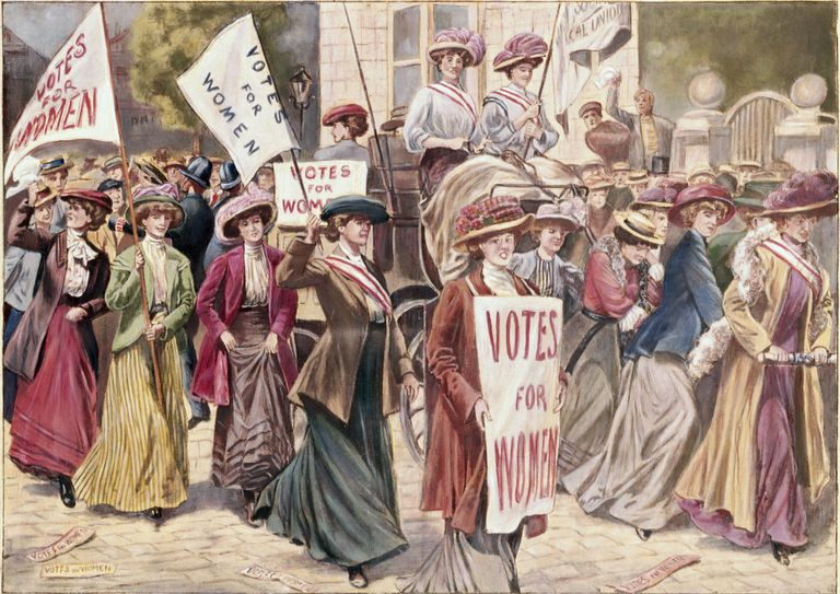 Suffragette Demonstration inLondon by Unknown Artist