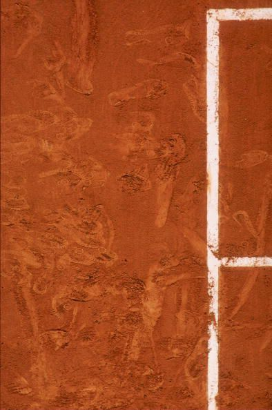 Red Clay Court Surface of Roland Garros