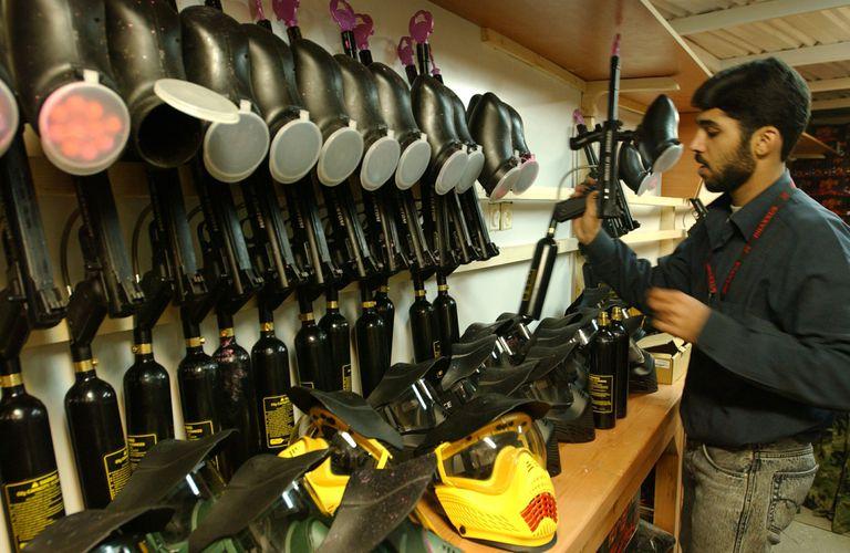 Paintball gun supplies