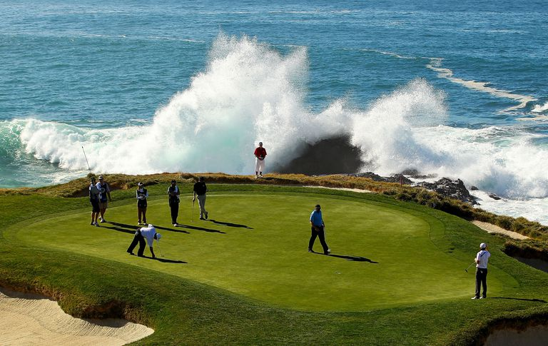 The Seventh Green During First Round Of At T Pebble Beach National Pro Am