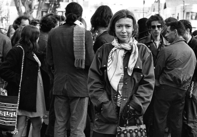 photograph of Joan Didion in 1967