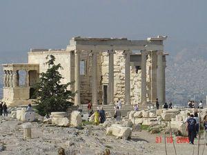 Porch of the Maidens (Caryatid porch), Erechtheion, Acropolis, Athens