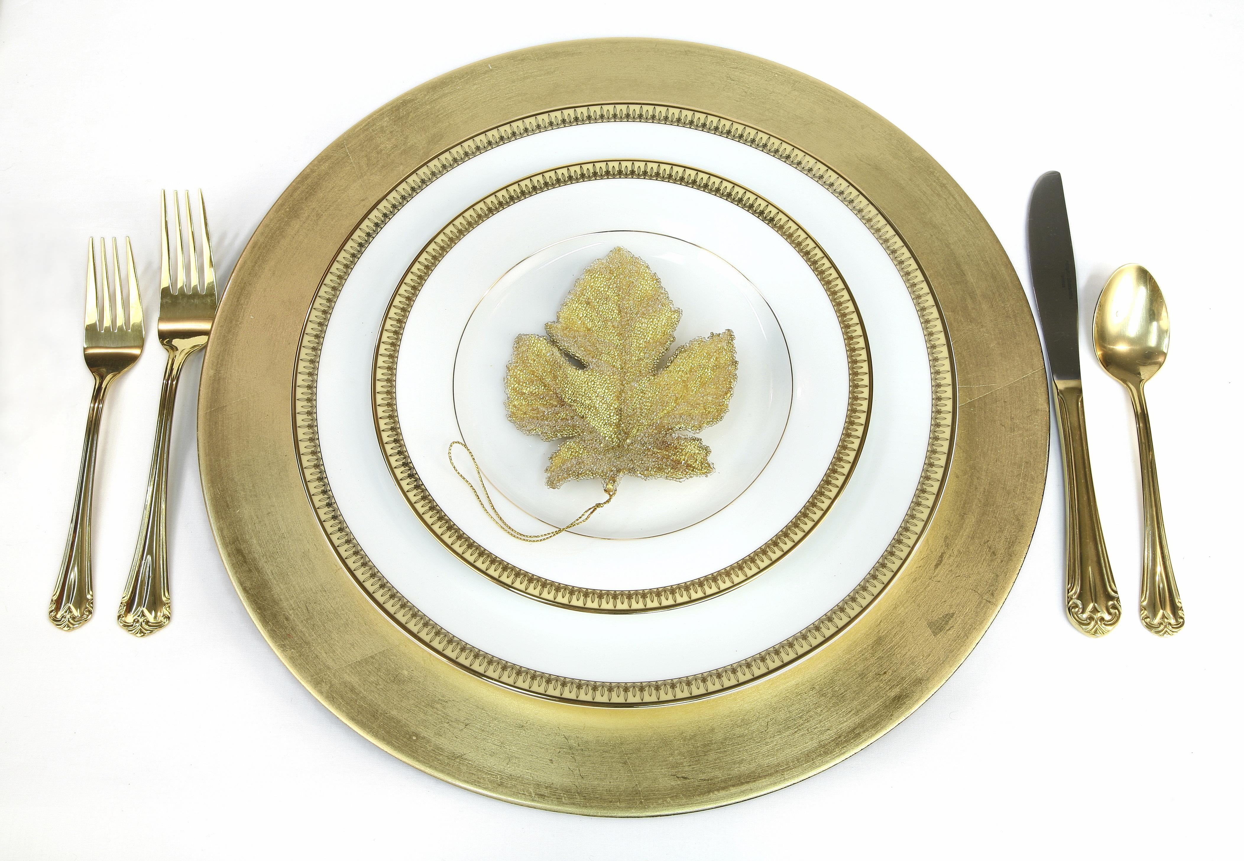 China and silverware may contain high karat gold.