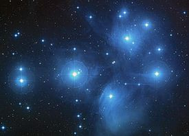 The Pleiades as seen by the Hubble Space Telescope.