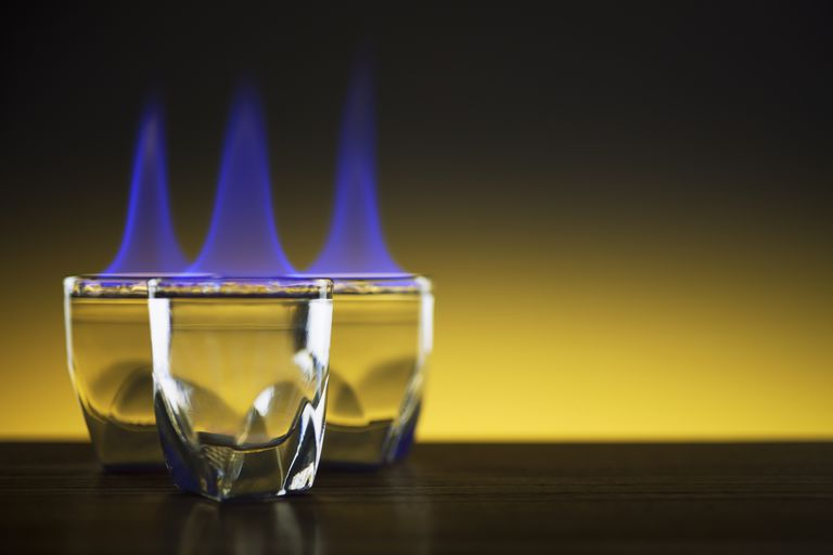 flammability of ethanol water mixtures