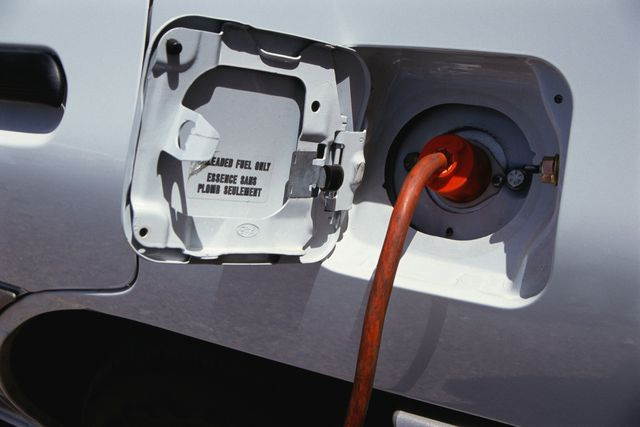 recharging electric car