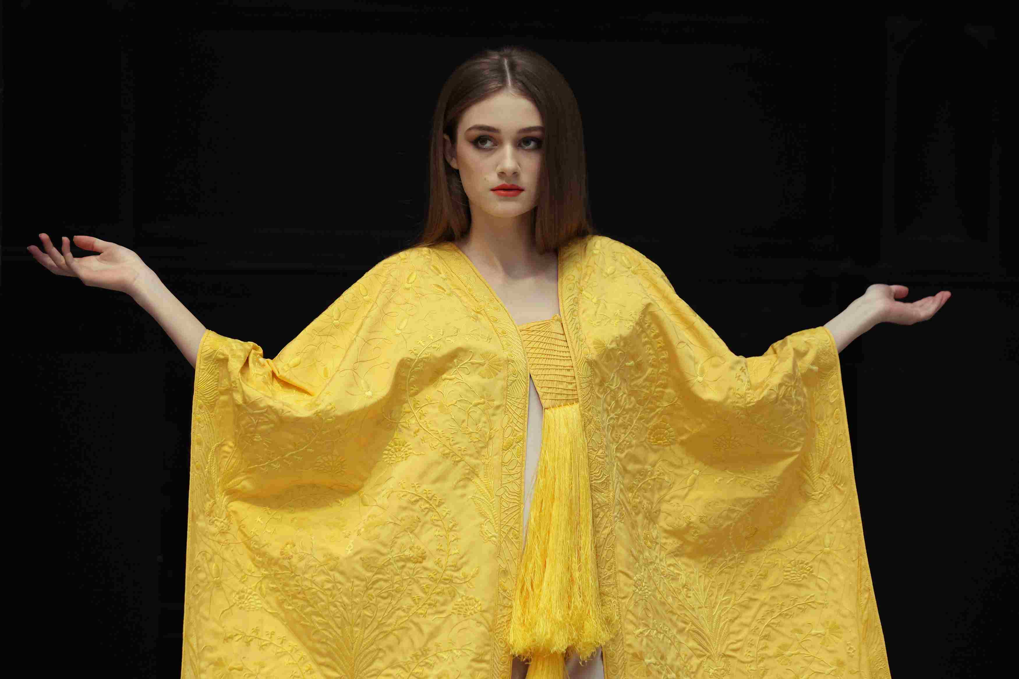 A Golden Spider Silk Cape Is Unveiled At The Victoria And Albert Museum