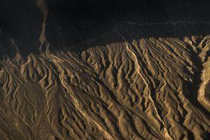 Arid terrain and mountain range of Ladakh region, India