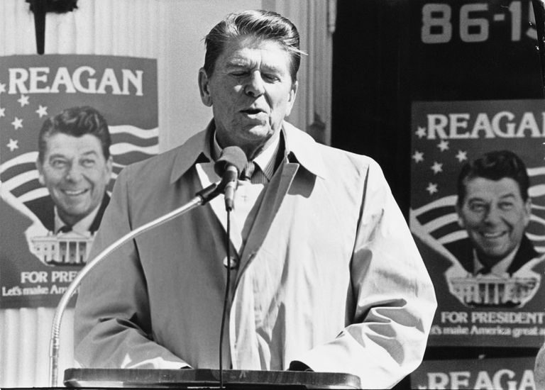 Reagan At New York Primary