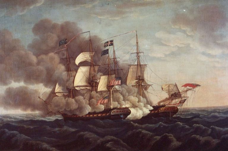 USS Constitution in battle