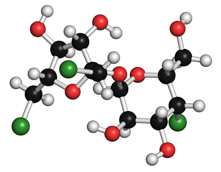This is the structure of sucralose or Splenda, an artificial sweetener.