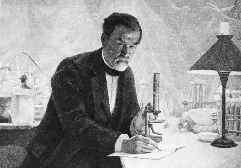 Portrait of Louis Pasteur in His Laboratory