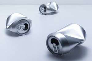 When you melt aluminum cans, it doesn't matter if they are painted or still contain some soda. The heat of melting them will separate the metal from the impurities.