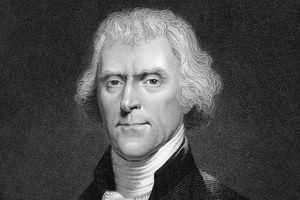 Engraved portrait of President Thomas Jefferson