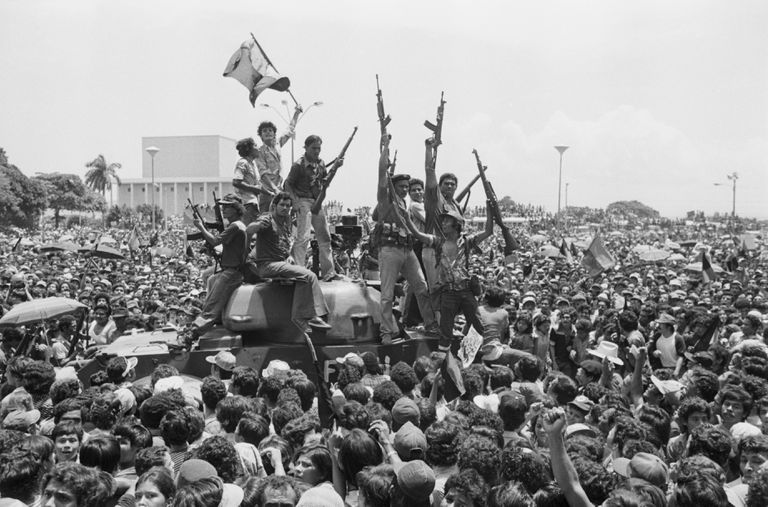 Sandinistas arrive in Managua, 1979