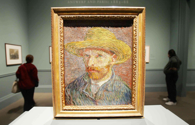 Vincent van Gogh's self portrait painting