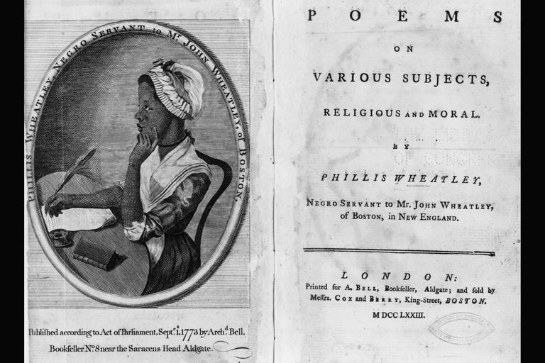 Phillis Wheatley's Poems, published 1773