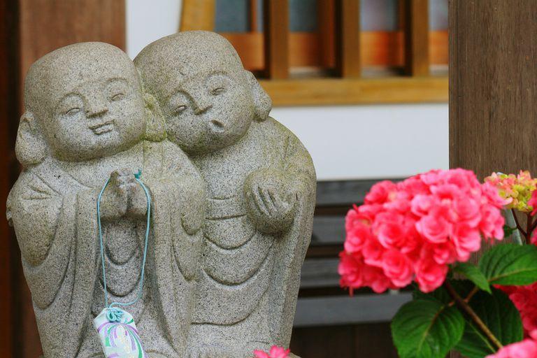 Two Stone Buddhas