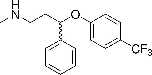 This is the chemical structure of fluoxetine.