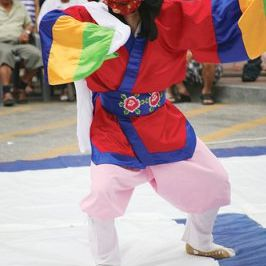 Korean traditional mask dancer