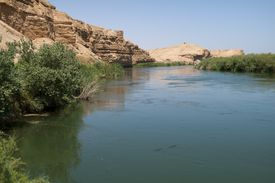Euphrates river at Dura Europos, Syria