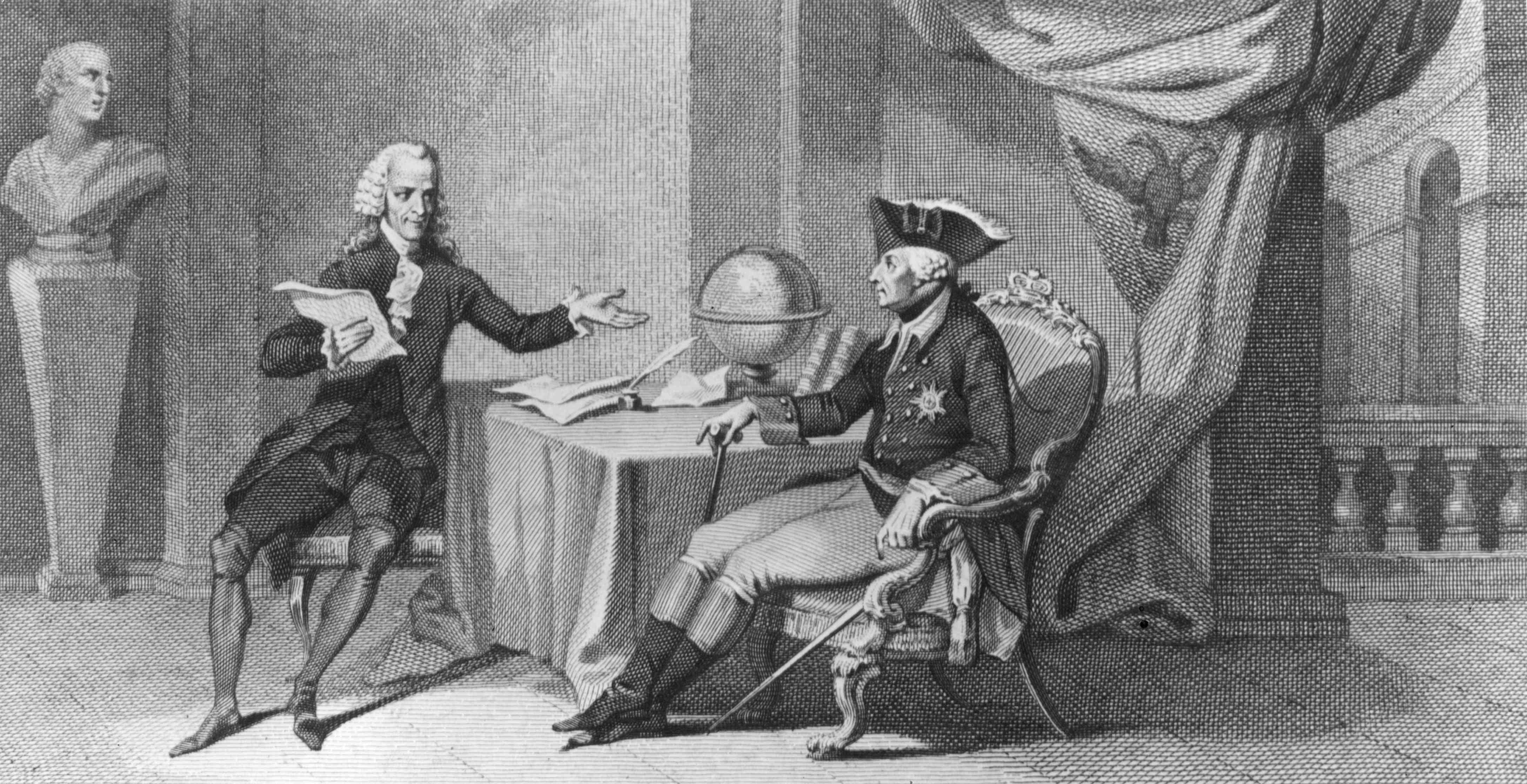 The philosopher Voltaire And King