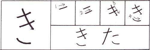how to write the hiragana ki character