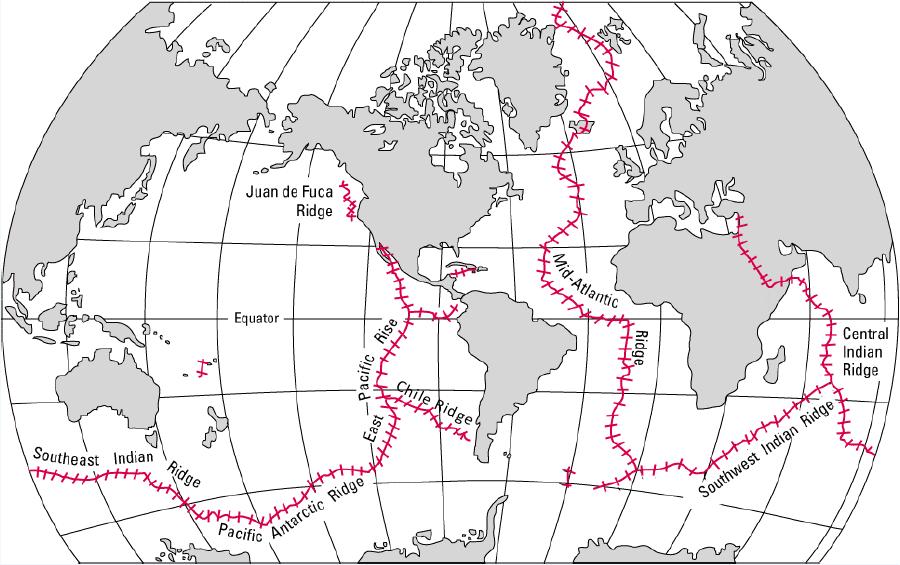 Hidden volcanic mountain network