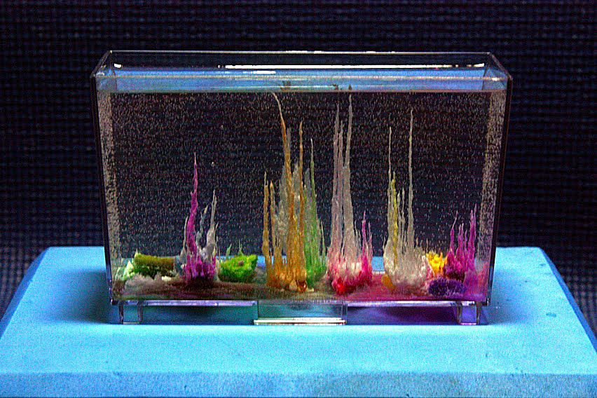 Sodium silicate is the 'secret' ingredient in Magic Rocks that allows you to grow an underwater crystal garden while you watch.